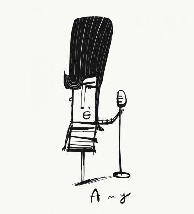 Amy Winehouse print by Tom McLaughlin.