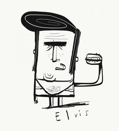 Elvis print by Tom McLaughlin.