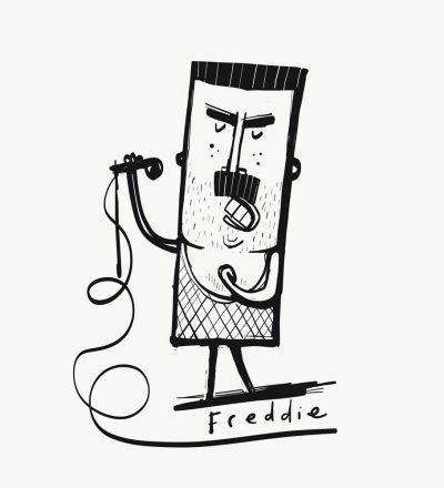 Freddie print by Tom McLaughlin.