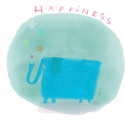 Happiness print by Tom McLaughlin.