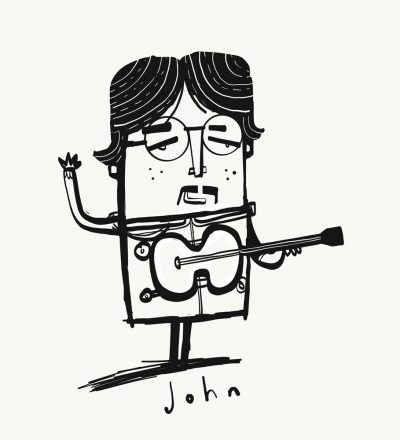 John Lennon Print by Tom McLaughlin.