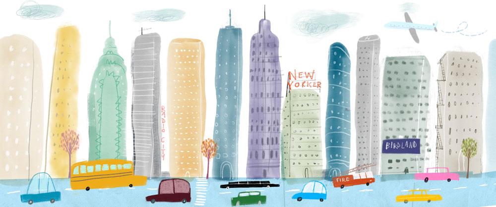 New York Panoramic Print by Tom McLaughlin.