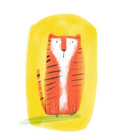 Tiger square print by Tom McLaughlin.