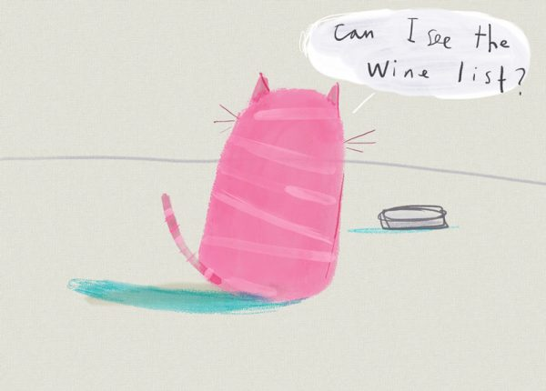 Pink Cat A3 Print by Tom McLaughlin